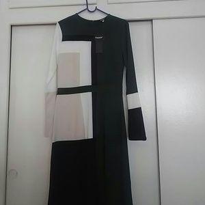 Dresses & Skirts - Green/Tan/Black Nice multi color dress.